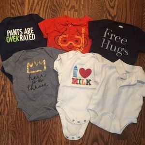 6 Old Navy short sleeve bodysuits
